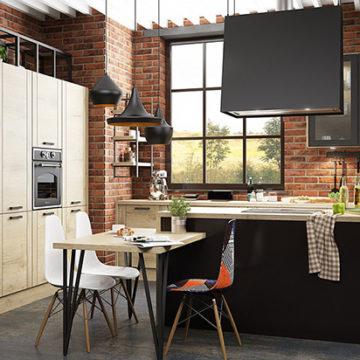 Мебель в стиле лофт для кухни