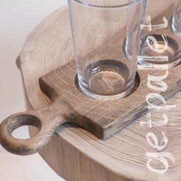 Доска для дегустации бокалы