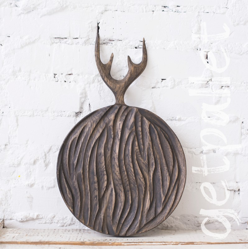 Доска круглая с рогами